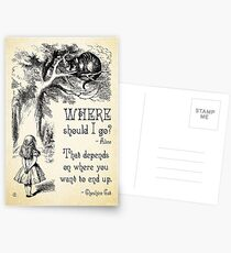 Alice in Wonderland - Cheshire Cat Quote - Where Should I go? - 0118 Postcards
