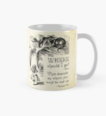 Alice in Wonderland - Cheshire Cat Quote - Where Should I go? - 0118 Mug