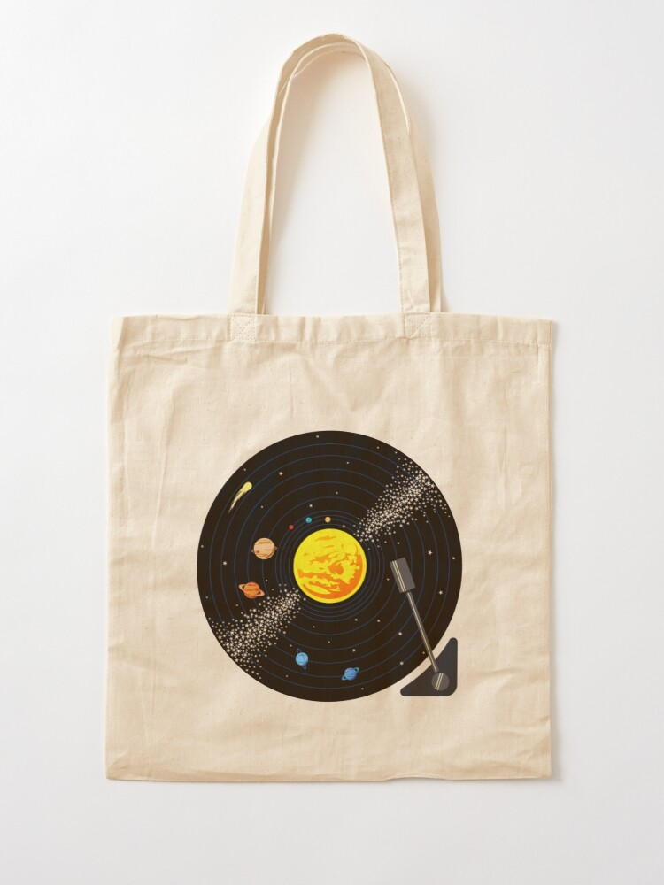 Alternate view of Solar System Vinyl Record Tote Bag