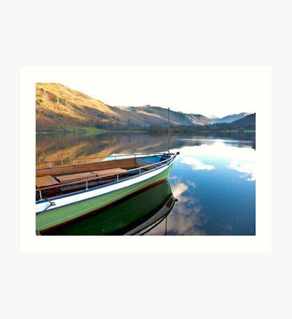 Sailing on Ullswater. Art Print