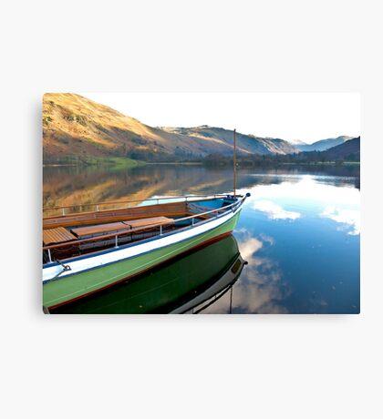 Sailing on Ullswater. Canvas Print