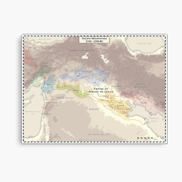 Ancient Mesopotamia 2350-2290 BC Canvas Print