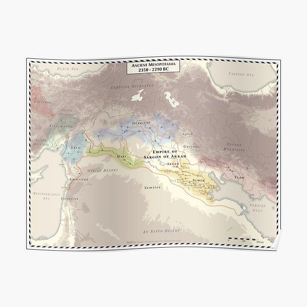 Ancient Mesopotamia 2350-2290 BC Poster