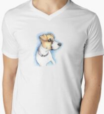 Puppy Portrait Men's V-Neck T-Shirt