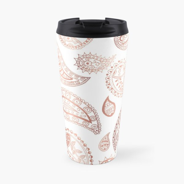 Rose gold paisley pattern Travel Mug