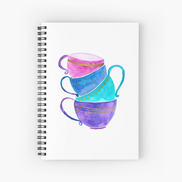 Stacked teacups Spiral Notebook
