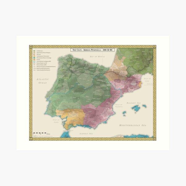 Celts of the Iberian Peninsula 300-58 BC Art Print