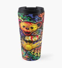 3d grateful dead dancing bears Travel Mug
