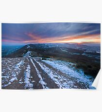 Malvern Hills: Winter in the Shire Poster
