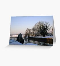 Winter scene by the Trent_1 Greeting Card