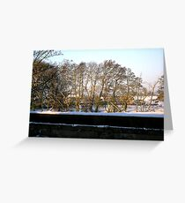 Winter scene by the Trent_2 Greeting Card
