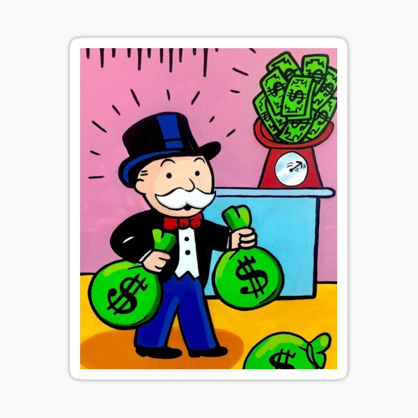 $ Monopoly Man $ Sticker