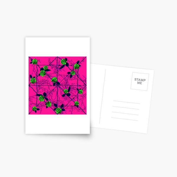 Barbed Rose - Pink Postcard