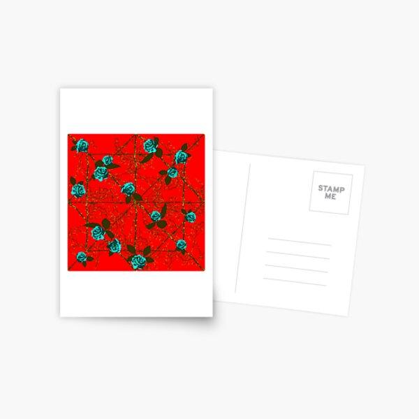 Barbed Rose - Red Postcard