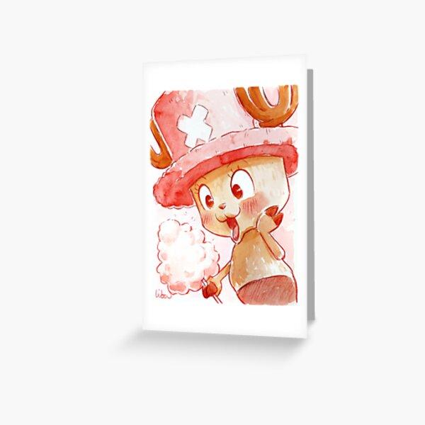 Tony Chopper aquarelle Carte de vœux