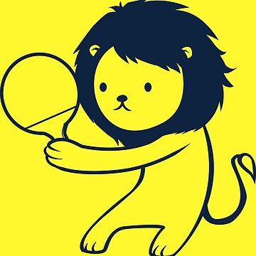 Ping pong lion by cheezup
