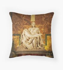 Michelangelo's Pietà - Vatican City Throw Pillow