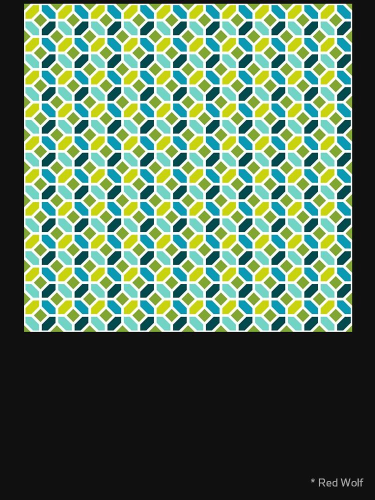 Geometric Pattern: Octagon: Spring by redwolfoz