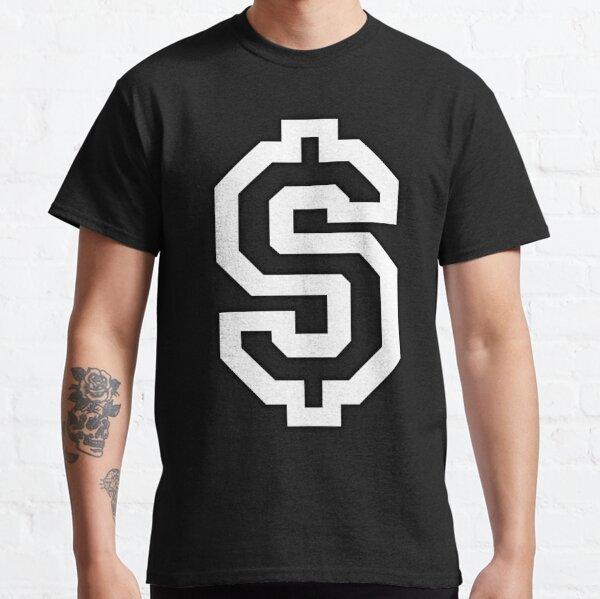 DOLLAR. SYMBOL, SIGN, MONEY, CASH, USA, Stars and Stripes, American Flag, American, America, USA, White on Black. Classic T-Shirt