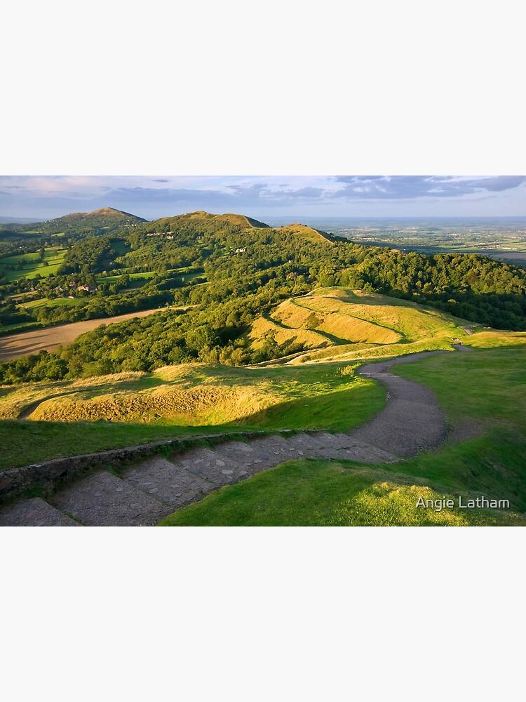Malvern Hills : curving down by AngelaBarnett