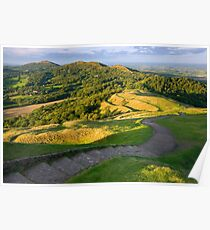 Malvern Hills : curving down Poster