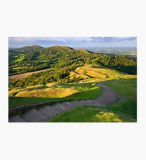 Malvern Hills : curving down Photographic Print