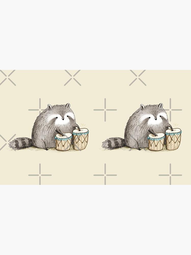 Raccoon on Bongos by SophieCorrigan