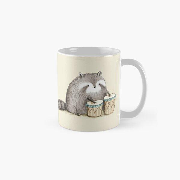 Raccoon on Bongos Classic Mug