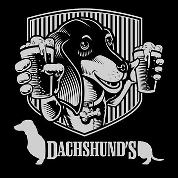 Dachshund Wiener Dog Craft Beer by Sacredbluerose