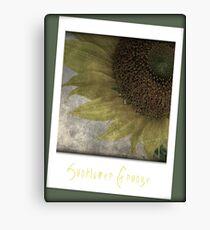 Sunflower Grunge Canvas Print