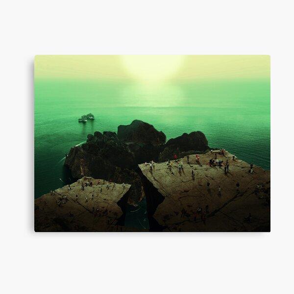 Ocean Mountain & Sun Dreamscape Canvas Print
