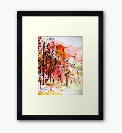 black trees..... Framed Print