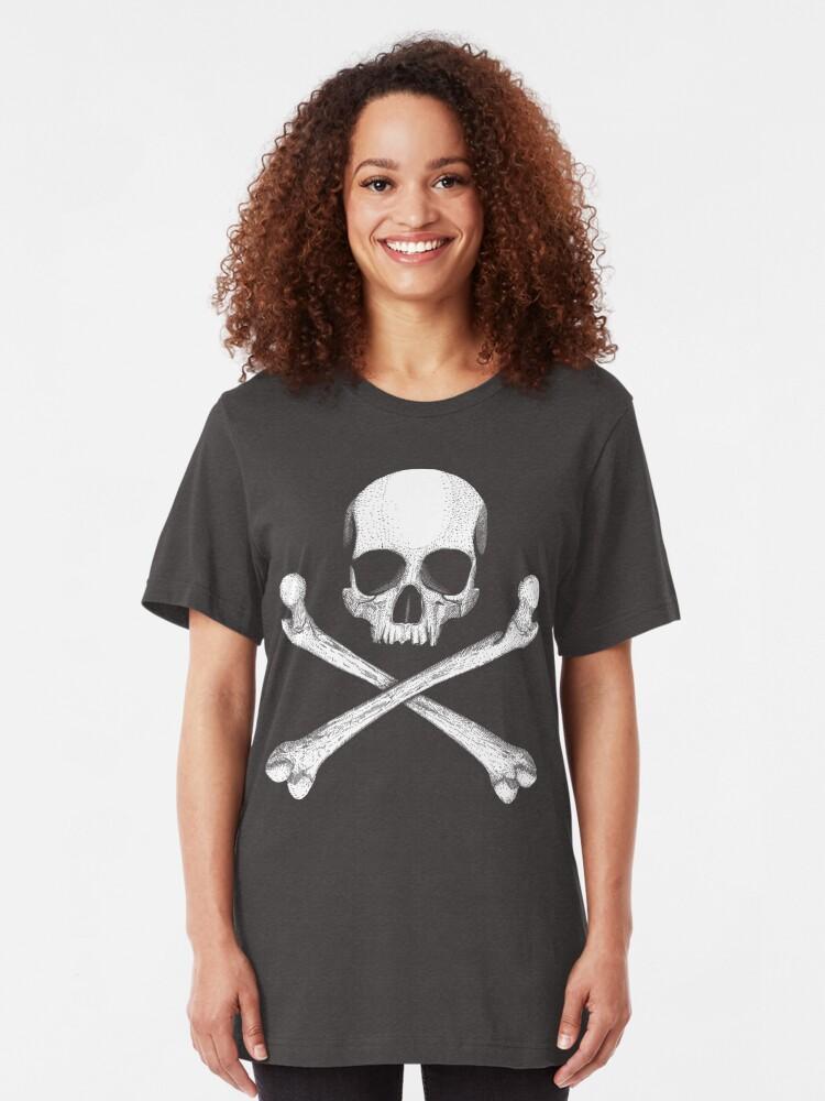 Alternate view of Jolly Roger - Crossbones Slim Fit T-Shirt