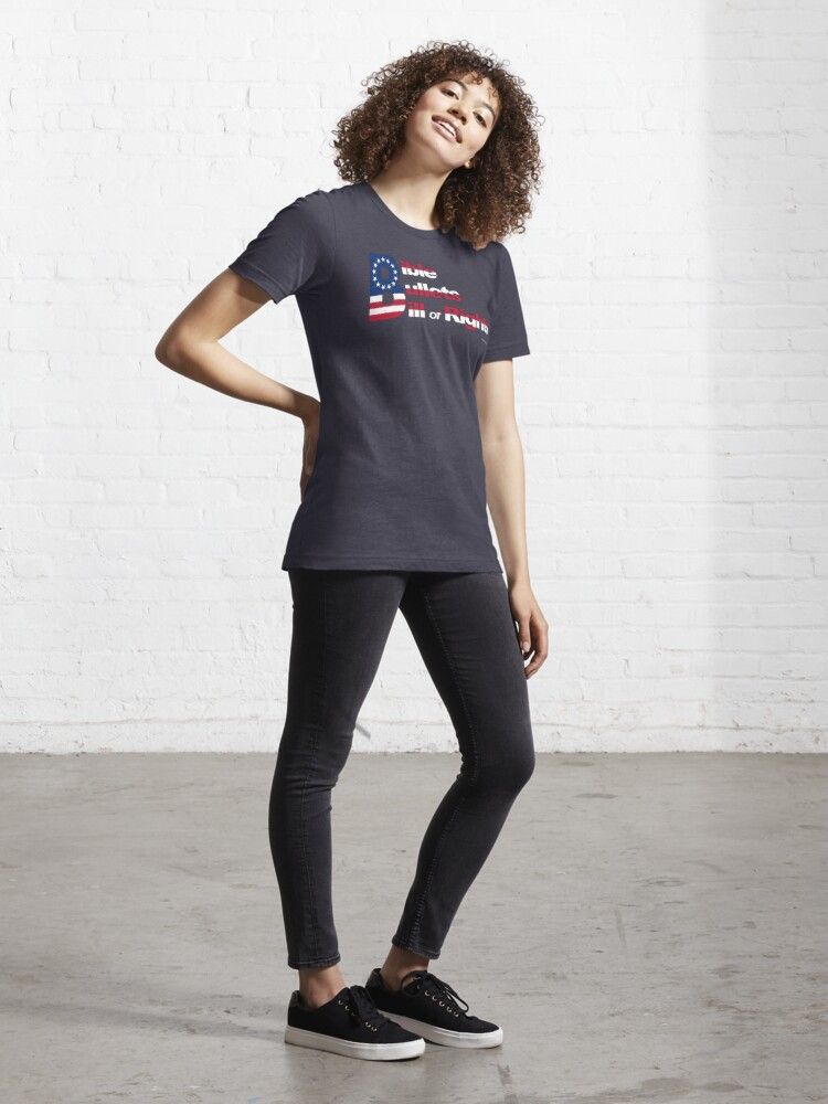 Alternate view of Bible, Bullets and Bill of Rights Essential T-Shirt