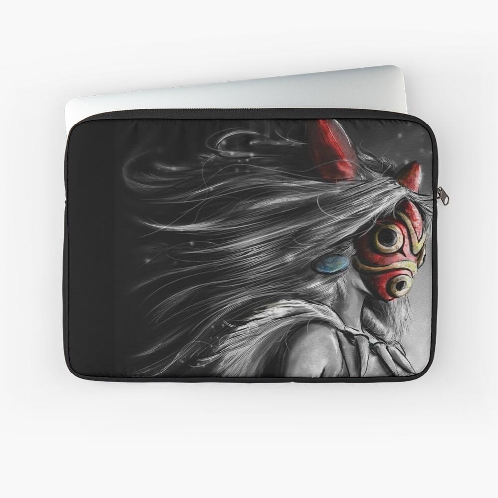 Mononoke Wolf Anime Tra Digital Painting Laptop Sleeve