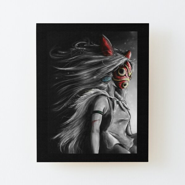 Fury of the Princess Anime Digital Painting Wood Mounted Print