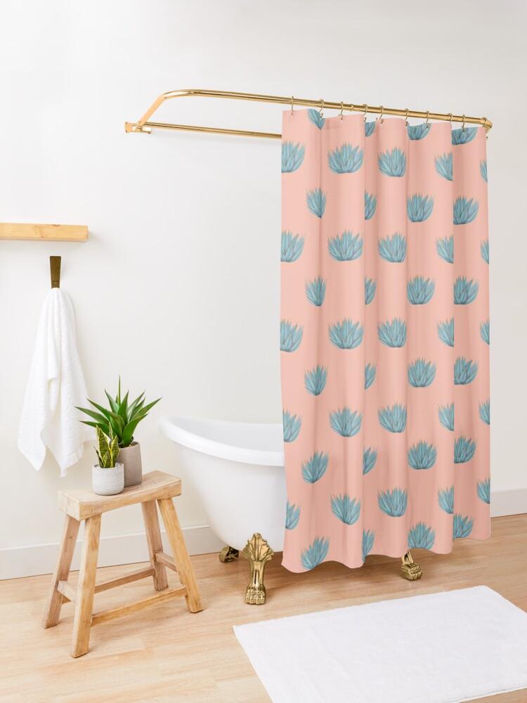 Alternate view of Desert Agave Shower Curtain