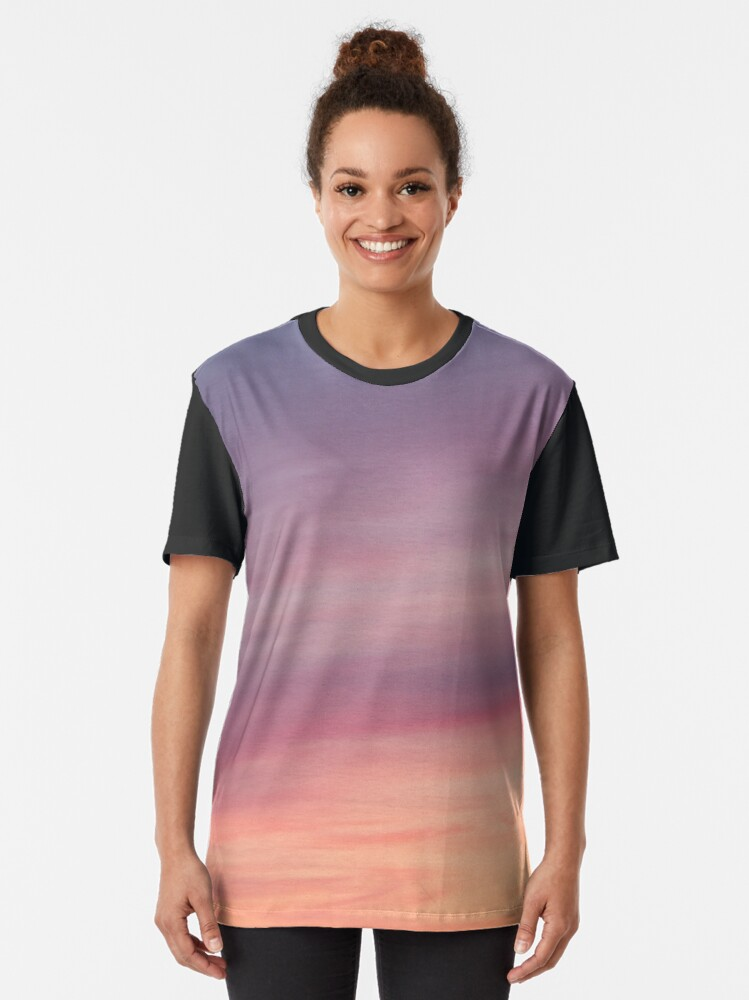 Alternate view of Colorful sunset clouds at dusk sky scape Graphic T-Shirt