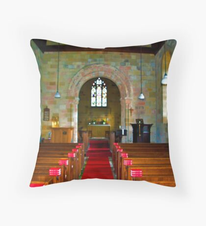 Interior of St John Church Throw Pillow
