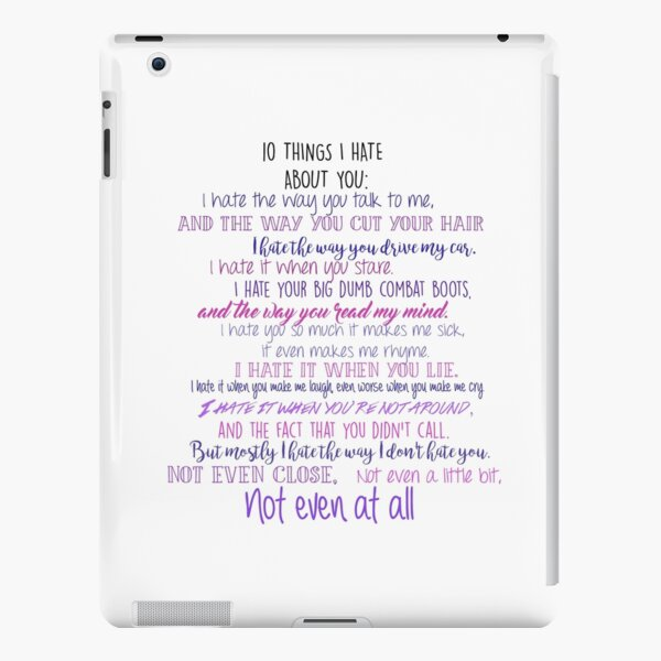 10 Things I Hate about You  iPad Snap Case