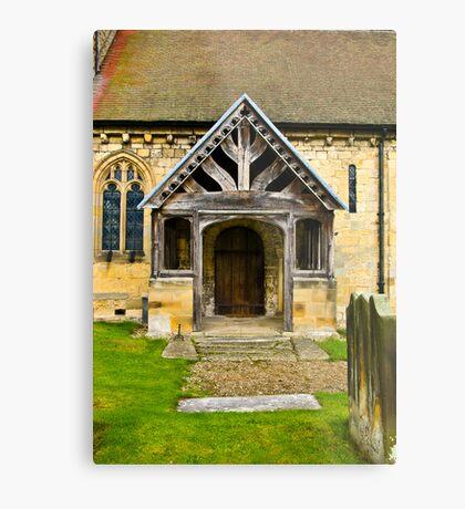 The Entrance Door St John's Church. Metal Print