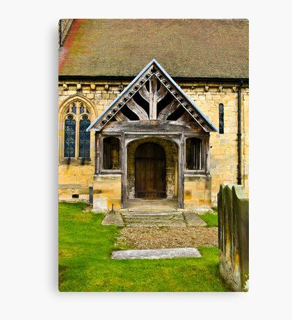 The Entrance Door St John's Church. Canvas Print