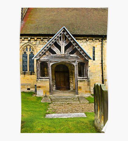 The Entrance Door St John's Church. Poster