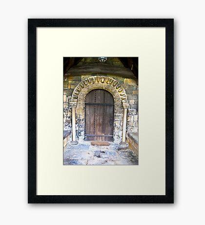 Wooden Church Door Framed Print