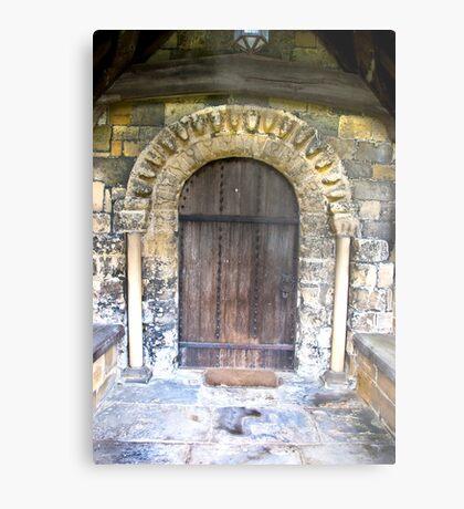 Wooden Church Door Metal Print