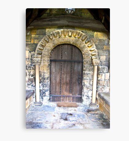 Wooden Church Door Canvas Print