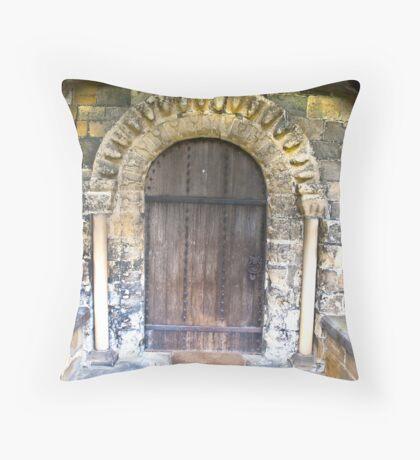Wooden Church Door Throw Pillow