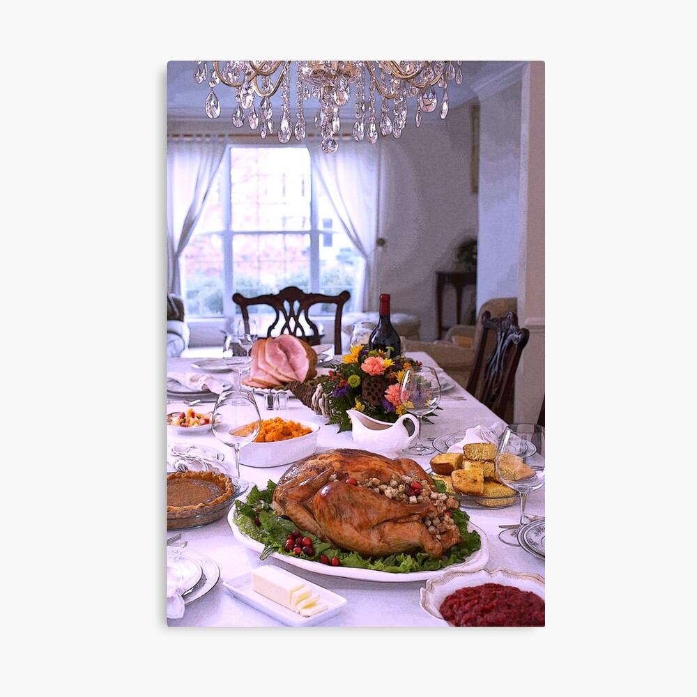Happy Thanksgiving Fall Harvest Holiday Celebration Canvas Print
