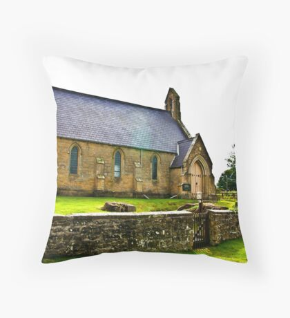 Church of The Holy Epiphany - Butterwick. Throw Pillow