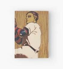 Vintage Baseball illustration Hardcover Journal